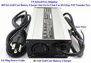 New 48 Volt Golf Cart Battery Charger 6a Star Ez Go Club Car Ds Ezgo Txt Yamaha