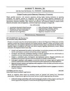 resume chief compliance officer compliance officer resume exle