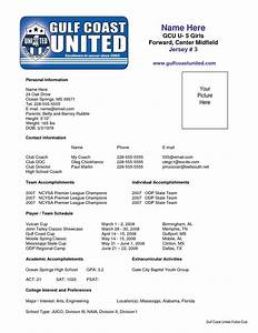 Football Player Cv Template Sample Soccer Resume Places To Visit Pinterest
