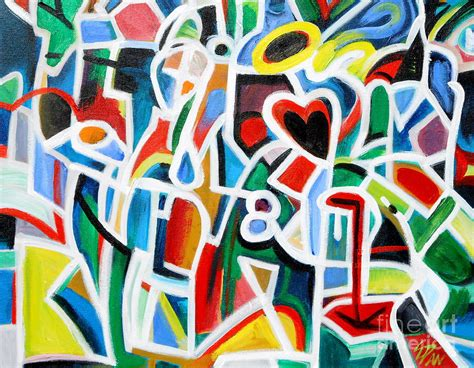 Abstract Shapes Painting by Shape Abstract 2 Painting By E Dan Barker
