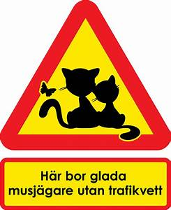 Varningsskyltar katt