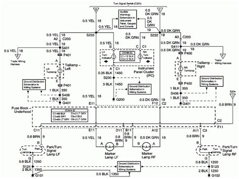 2004 Chevrolet Venture Wiring Diagram by My Turn Signal On My 2004 Chevy Venture Does Not Work