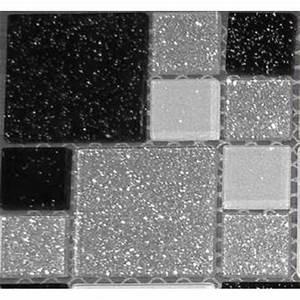 carrelage mosaique en verre argent blanc noir avec des With carrelage adhesif salle de bain avec table lumineuse led