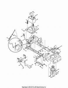 Mtd 13ac76lf031  Lt3800   2011  Parts Diagram For Frame