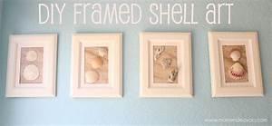 DIY Framed Shell Art