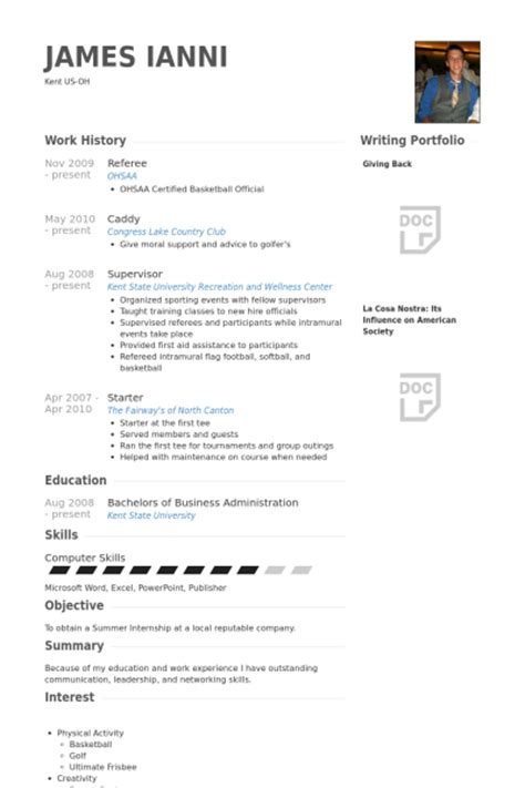 resume referee simple resume template