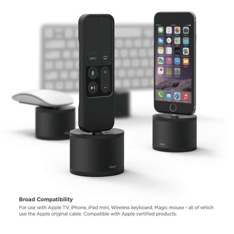 apple tv iphone remote elago 174 d stand charging station for apple tv