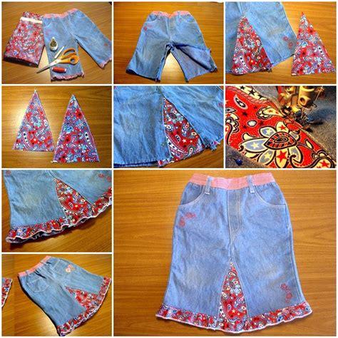 diy easy skirt   jeans