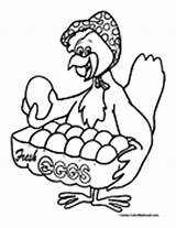 Chook Chicken Template Pages Coloring sketch template