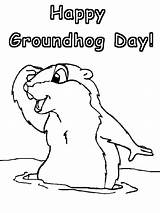 Groundhog Coloring Pages Ground Printables Printable Groundhogs Sheet Hogs Activities sketch template