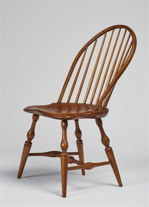 19c bow back side chair