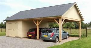 Garages En Bois Ou Carport Pour Les Voitures 12