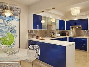 Kitchen cabinets the 9 most popular colors to pick from for Kitchen cabinet trends 2018 combined with navy blue and white wall art
