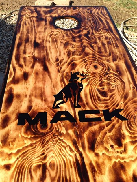 burnt wood corn hole board corn hole diy cornhole