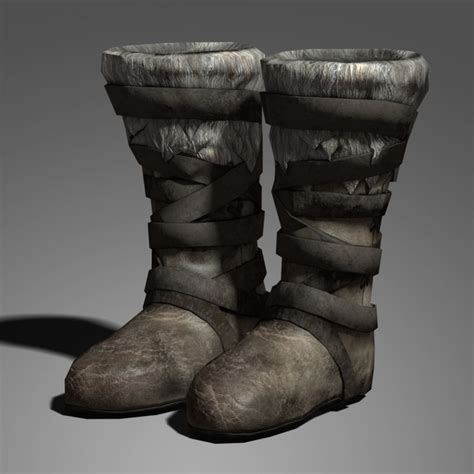 medieval boots  model