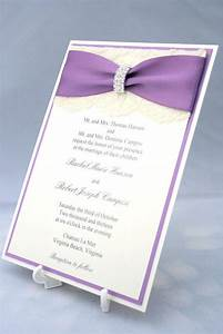 lace wedding invitations purple lace and lace weddings on With wedding invitations with lace overlay