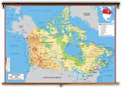 Canada Political Classroom Map from Academia Maps  Canada Physical Map