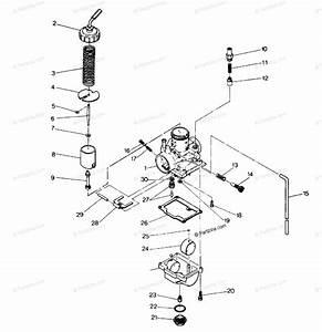 Polaris Atv 1987 Oem Parts Diagram For Carburetor Assembly