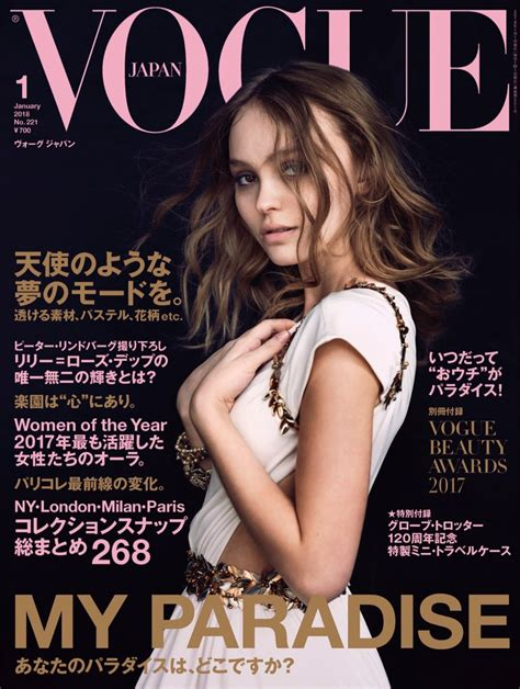 Latest Vogue Cover by Lily Rose Depp Chanel Resort Fashion Shoot Vogue Japan