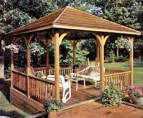 wooden gazebo plans outdoor plans  projects