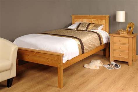 3ft single 4ft6 5ft king size caramel white wooden