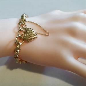 9ct gold bracelet engraved link padlock italy