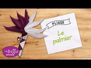 Pliage Serviette En Papier : pliage de serviette en papier le palmier labelleadresse ~ Melissatoandfro.com Idées de Décoration