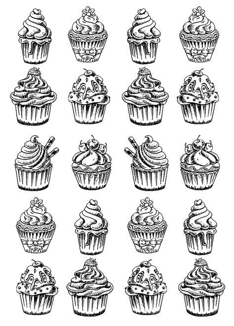 cup cakes  cup cakes disegni da colorare  adulti