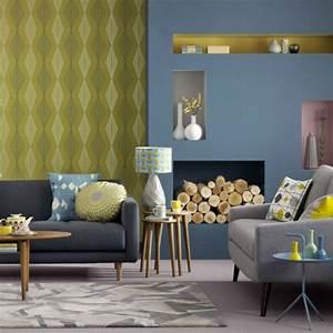 Idee Deco Avec Des Photos : idee deco salon gris et jaune ~ Zukunftsfamilie.com Idées de Décoration