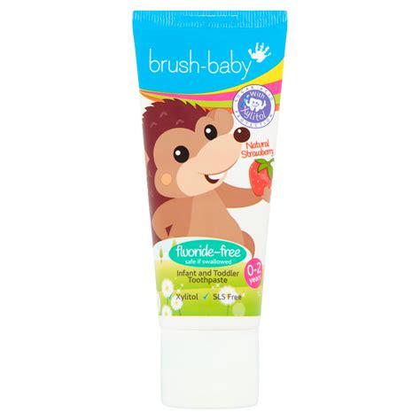 Brush-Baby zobu pasta BEZ fluorīda, zemeņu (0-2 gadi ...