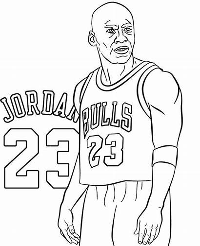 Jordan Coloring Michael Pages Sheets Nba Printable