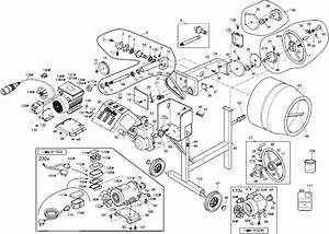 Belle Mixer Drum Maxi 140 Parts Diagram
