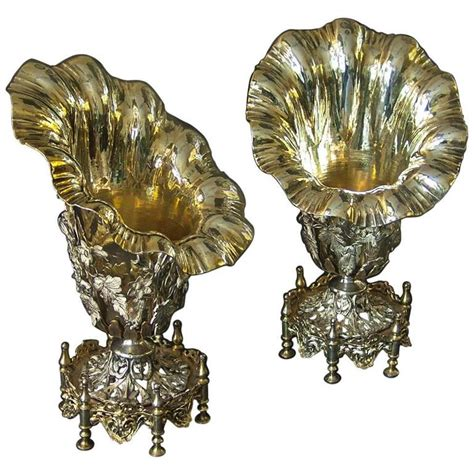 Silver Vases For Sale by Pair Of Antique Turkish Silver Vases For Sale At 1stdibs