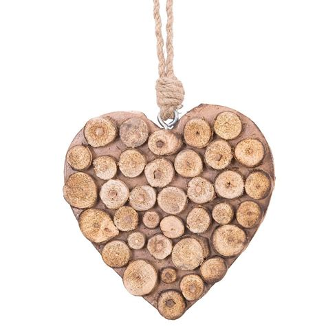 rustikales holzherz country chic cm clayre eef