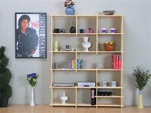 Raumteiler Kiefer Massiv : universal kiefer regal wohnwand b cherregal raumteiler unbehandelt massiv neu ebay ~ Indierocktalk.com Haus und Dekorationen