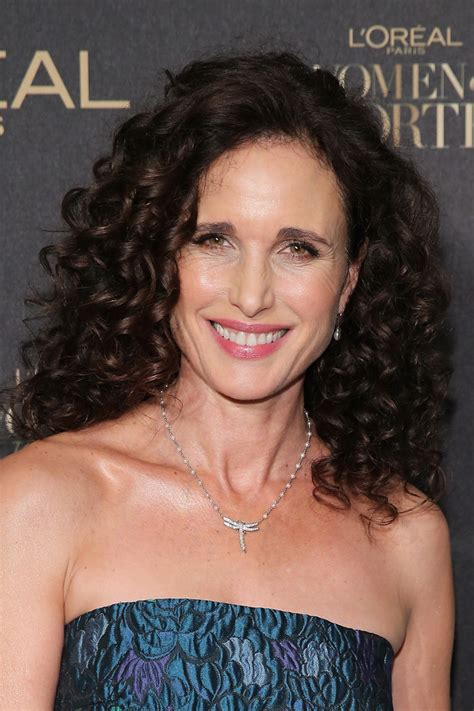 actress long curly hair andie macdowell medium curls fashion lookbook stylebistro