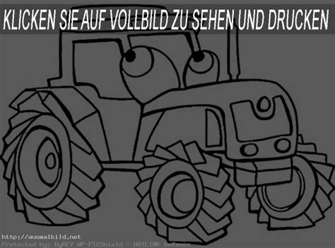 traktor  ausmalbild