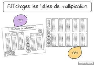table de multiplication ce2