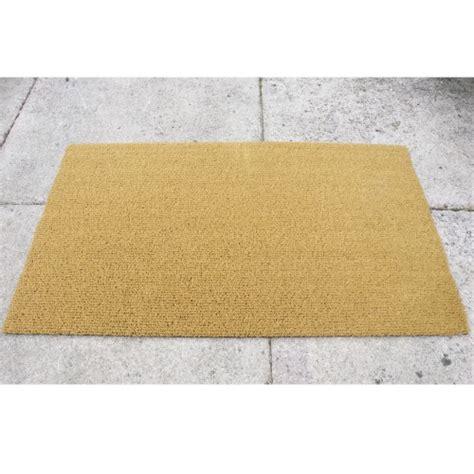 ultra thin door mat golden brown ultra thin synthetic coir 12mm thick brush pile