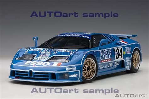 The very last bugatti to race at le mans returns for the first time ever to the circuit de la sarthe. Bugatti EB110 LM Le Mans 24h 1994 #34   AUTOart