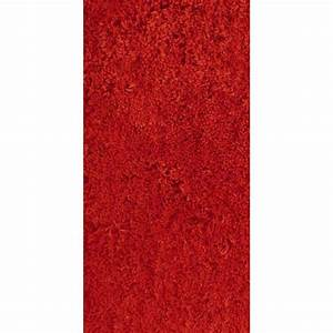 tapis rouge shaggy agathe l60 x l120 cm leroy merlin With tapis roy merlin