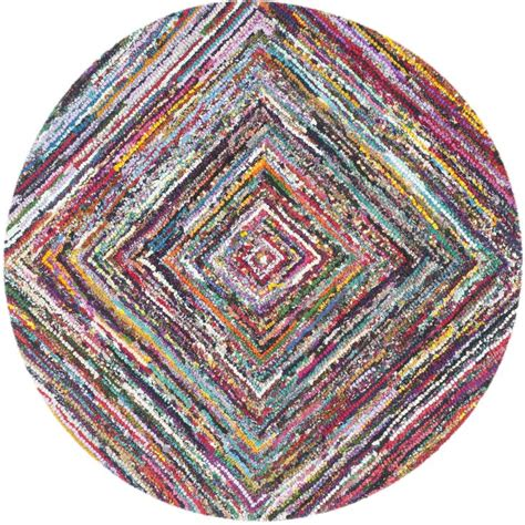 anaheim hand tufted cotton redpink area rug  images