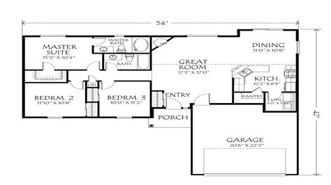 house plans single best one floor plans single open floor plans