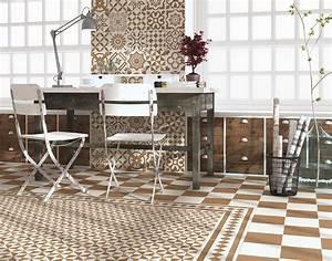 Faux Carreaux De Ciment : carrelage imitation ciment beige et blanc mix 20x20 cm ~ Dailycaller-alerts.com Idées de Décoration