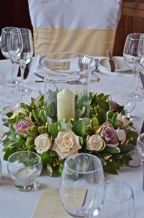 vase centerpiece ideas wreaths for around candles low tablecentre with