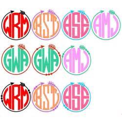Arrow SVG Circle Frame Monogram