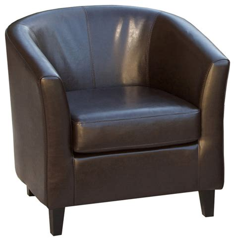 petaluma leather club chair brown contemporary