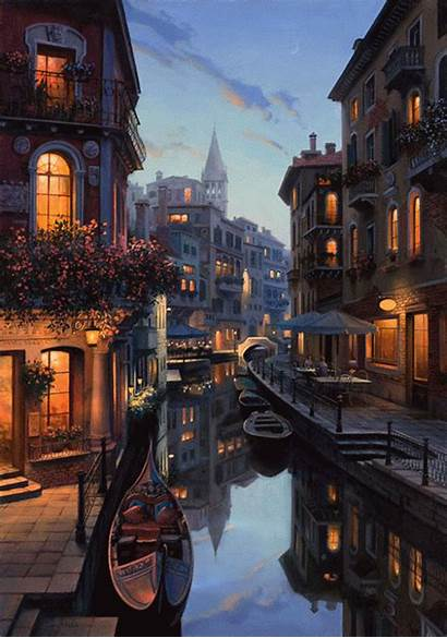 Italy Night Places Fantasy Scenery Gyclli Sweet