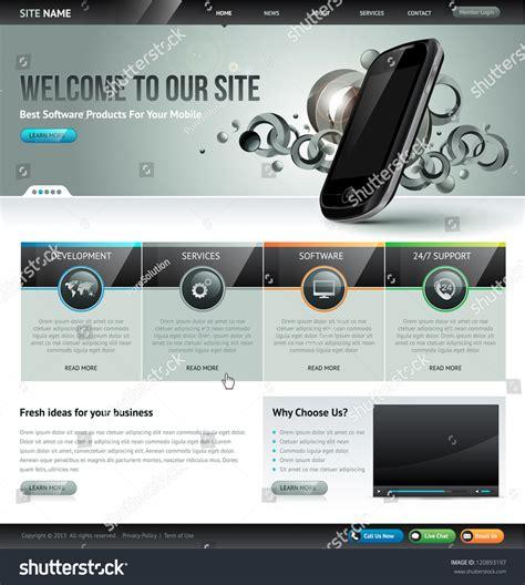 website template design stock vector  shutterstock