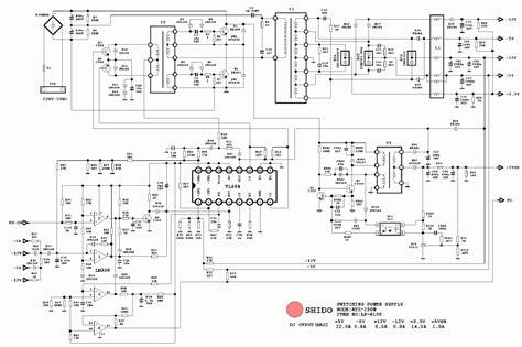 atx pc computer supplies schematics
